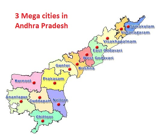 Vizag, Amaravathi, Tirupati to be developed as 3 mega cities