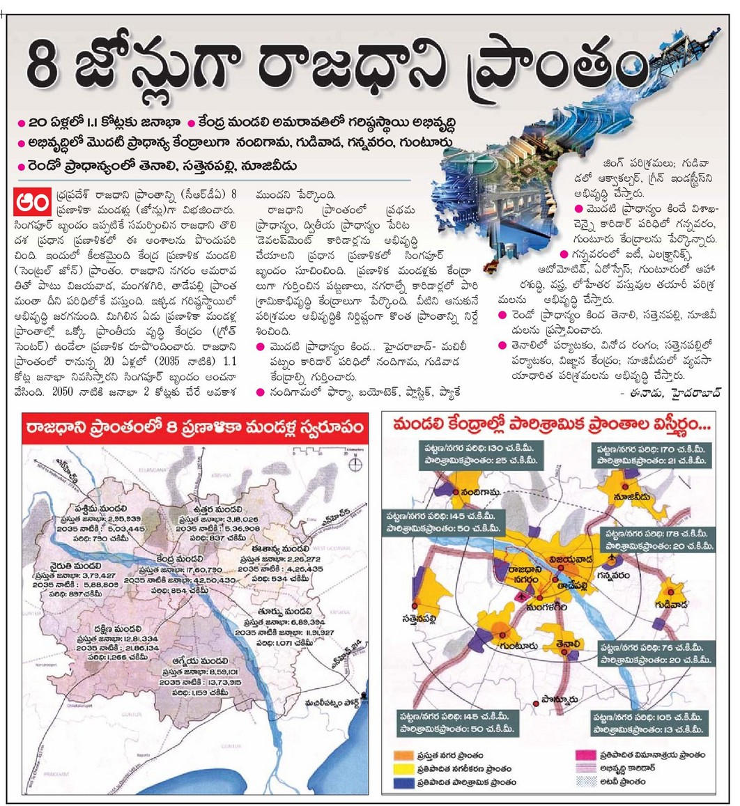 CRDA region divided into 8 Zones