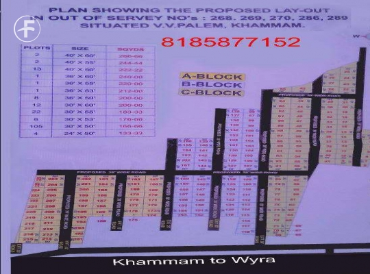 Open Plot at Wyra Khammam